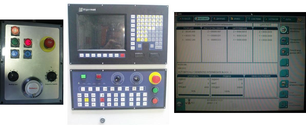 Пульт управления намоточным станком с ЧПУ.  Замененный ЧПУ (CNC) .