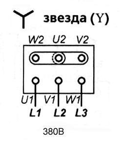 Схема звезда - схема подключения асинхронного трехфазного электродвигателя